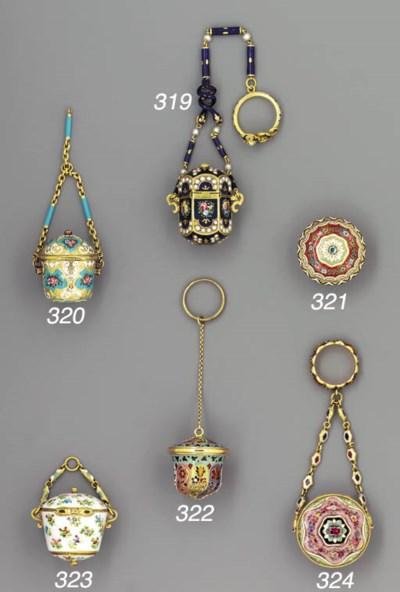 A Swiss enamelled gold pendant