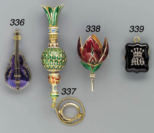 An enamelled and diamond-set g