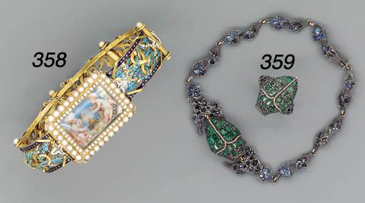 An Austrian gem-set gold and s