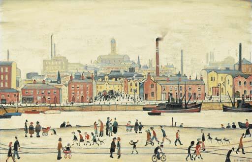Northern River Scene L S Lowry Print