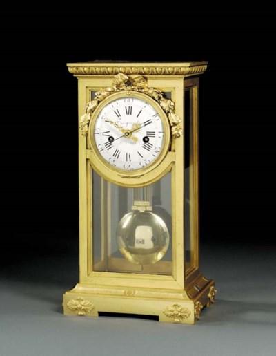 A Louis XVI ormolu month-going