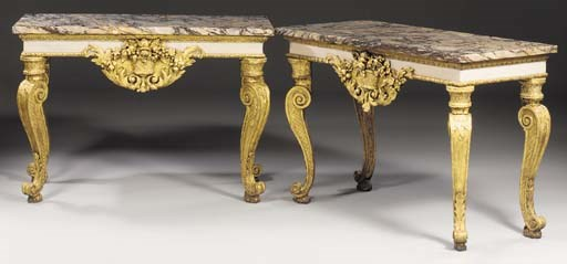 A PAIR OF GEORGE II WHITE-PAIN