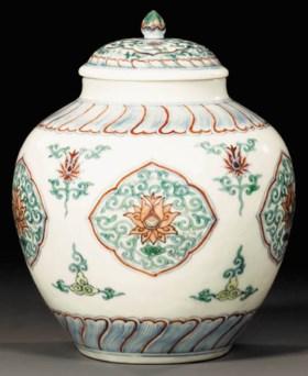 a rare chenghua-style doucai jar and cover
