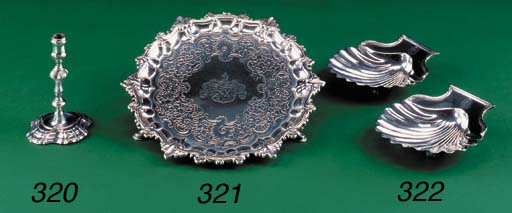 A pair of Victorian silver she