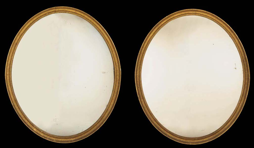 A PAIR OF LARGE GEORGE III GIL