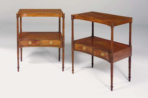 A PAIR OF MAHOGANY TWO-TIER BE