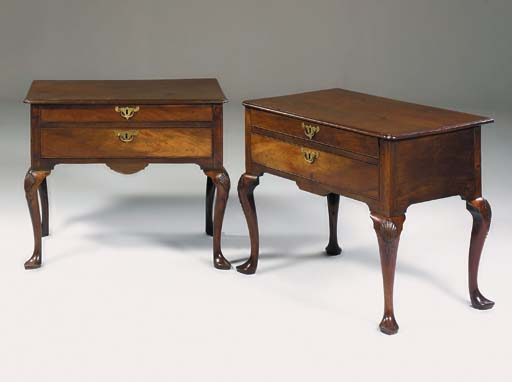A MATCHED PAIR OF MAHOGANY LOW