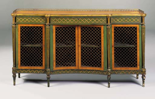 A GEORGE III SATINWOOD AND GRE