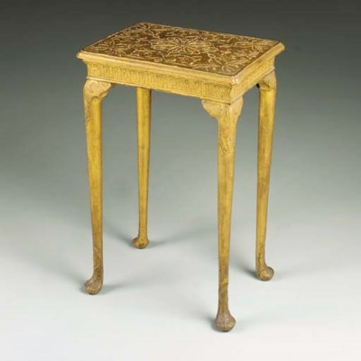 A QUEEN ANNE GILT-GESSO SMALL