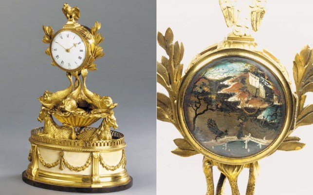 AN ORMOLU AND WHITE MARBLE MAN
