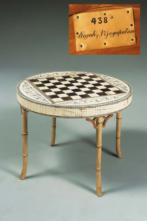 AN ANGLO-INDIAN IVORY GAMES-TA