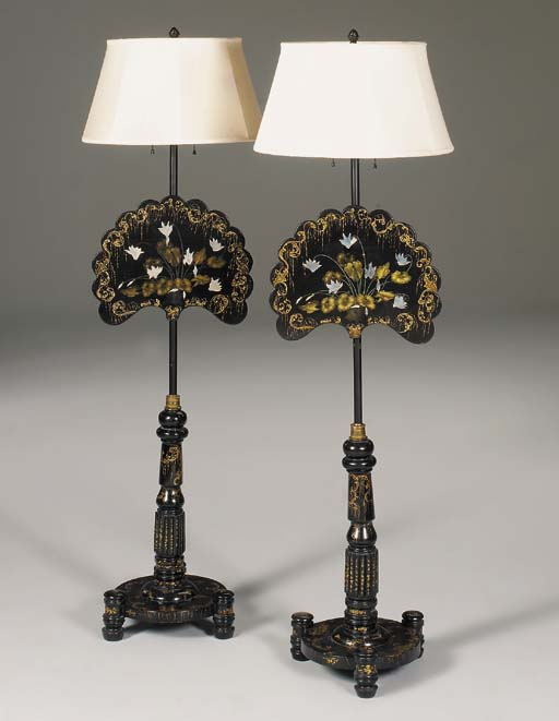 A PAIR OF WILLIAM IV POLYCHROM