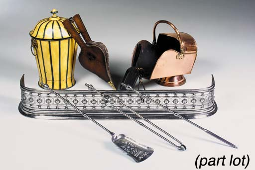 A GROUP OF FIRE PLACE ITEMS