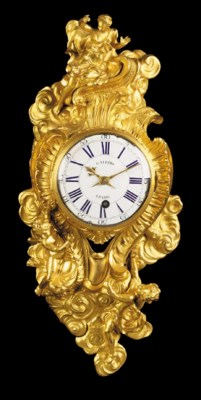 A Louis XV ormolu cartel-clock
