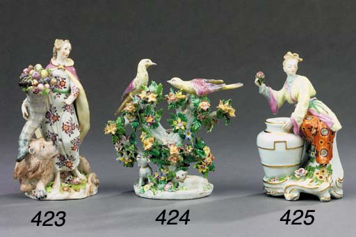A Chelsea Chinoiserie figural