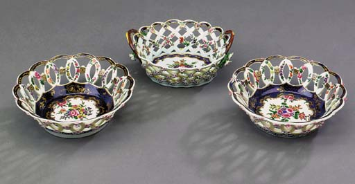 A pair of Worcester pierced ci
