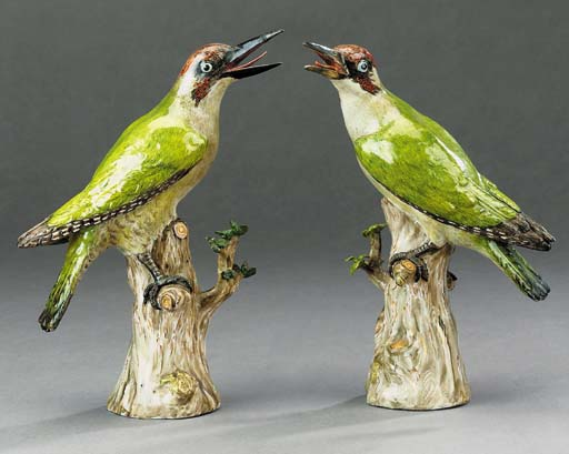 A pair of Meissen models of gr