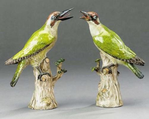 A pair of Meissen models of gr