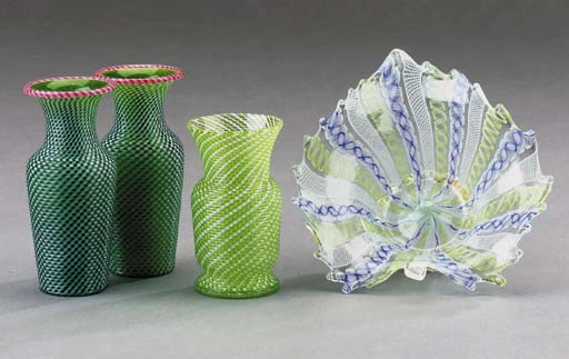 A pair of Clichy small green a