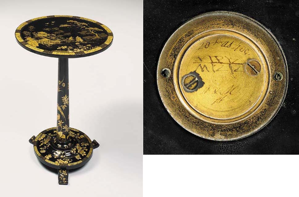 A VICTORIAN BLACK AND GOLD-JAP