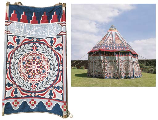 An Egyptian Cotton Appliqu 201 Lined Marriage Tent Circa