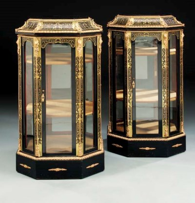 A pair of Victorian Boulle, eb