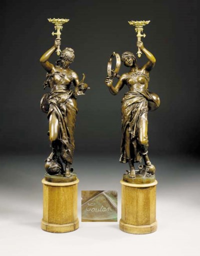 A pair of French parcel-gilt p