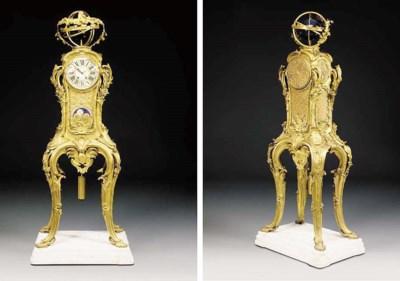 A French gilt-bronze regulateu