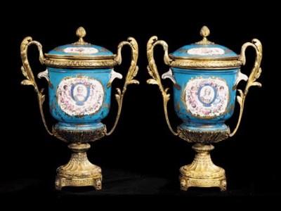 A pair of Napoleon III ormolu-