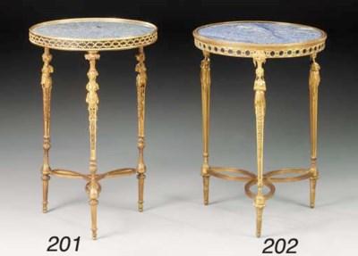 A gilt-bronze and bleu des And
