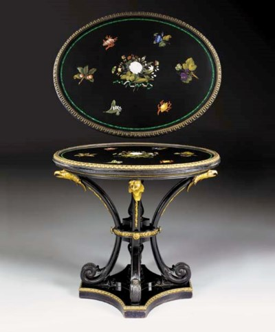 An Italian ormolu-mounted piet