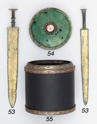 TWO GILT-BRONZE SWORDS