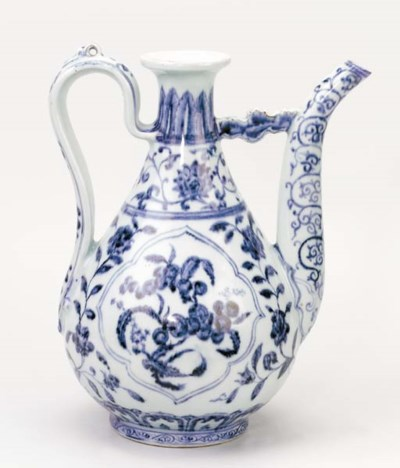 AN EARLY MING BLUE AND WHITE E