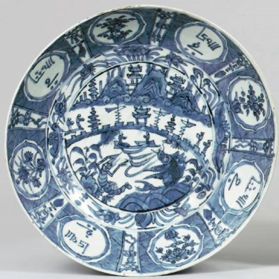 A SWATOW BLUE AND WHITE DEEP D