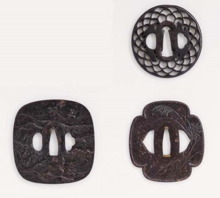 A DAISHO PAIR OF TSUBA BY IWAT