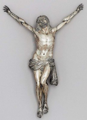 A SILVER FIGURE OF CHRIST