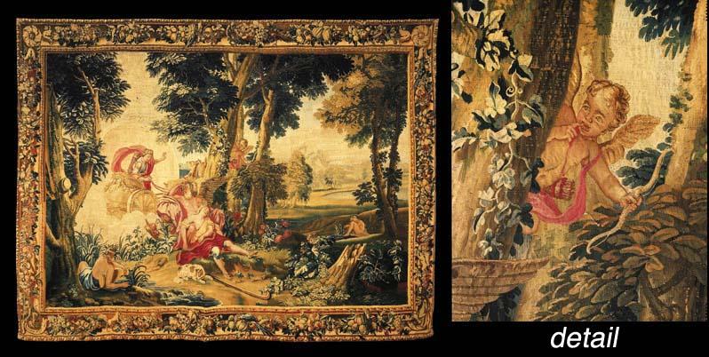 A LOUIS XV GOBELINS MYTHOLOGIC