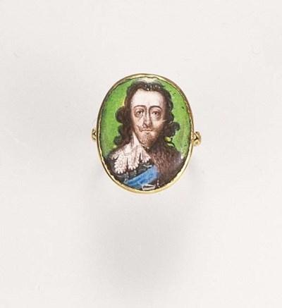 A Charles I memorial ring