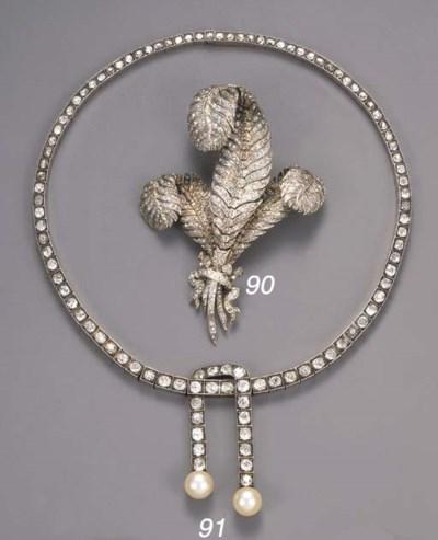 An antique diamond lavalliere