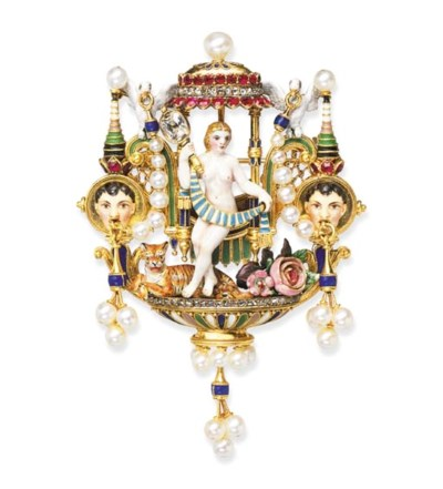 An exceptional enamel and gem-