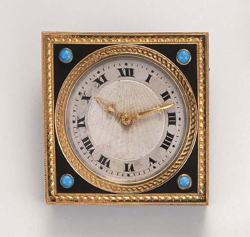 A desk clock, by Cartier