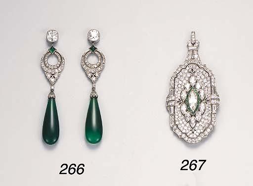 An early 20th Century diamond brooch/pendant