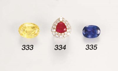 A Burmese ruby and diamond clu