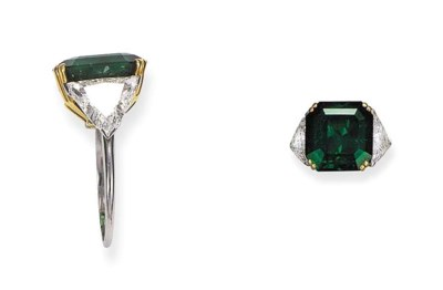 A Columbian Emerald And Diamon
