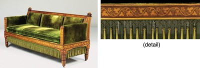 A REGENCY OAK AND MARQUETRY SO
