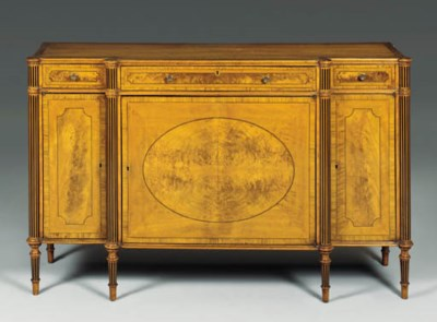 A SATINWOOD AND ROSEWOOD SIDE