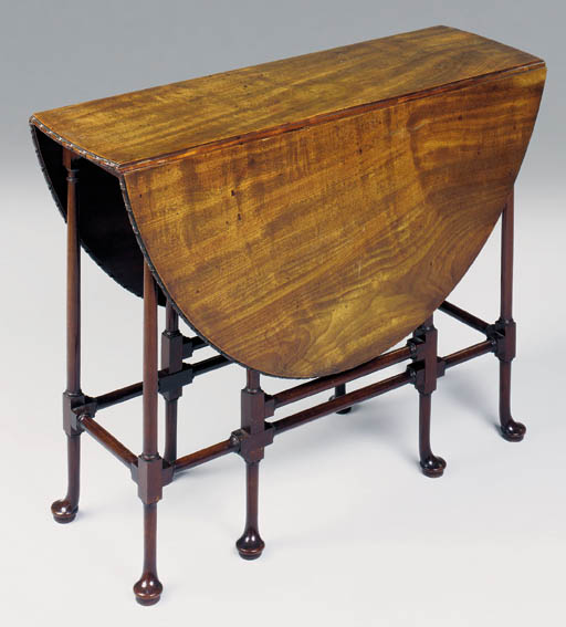 A GEORGE II MAHOGANY OVAL SPIDER-GATELEG TABLE