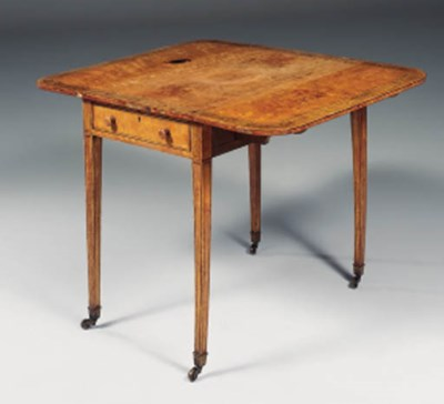 A GEORGE III SATINWOOD AND ROS