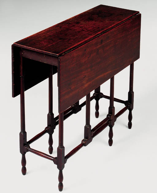 A GEORGE III MAHOGANY SPIDER-GATELEG TABLE