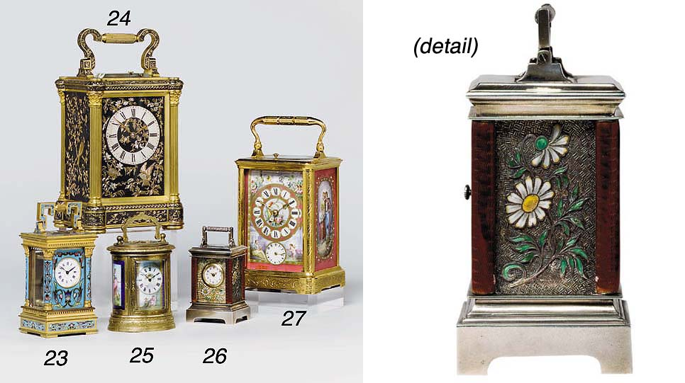 A Swiss silver and enamel mign